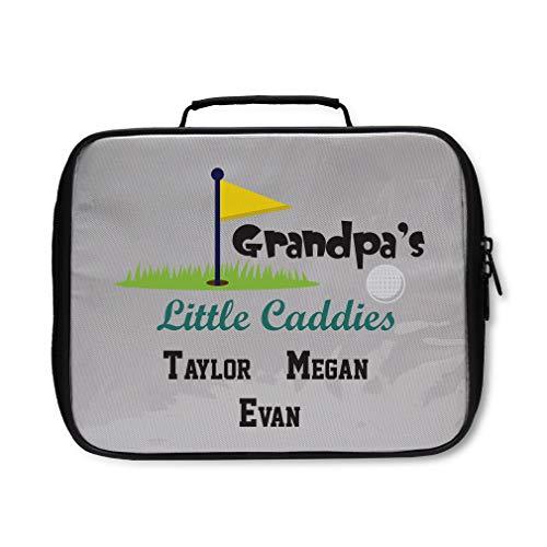 Personalized Custom Golf Grandpa's Little Caddies Nylon Insulated Lunch Box -