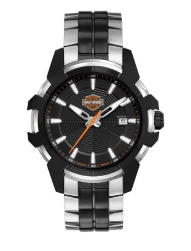 Harley-Davidson Men's Bulova Wrist Watch, Spider Collection. 78B124