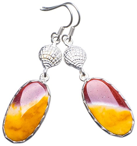 (Natural Royal Imperial Jasper Handmade Unique 925 Sterling Silver Earrings 2.25