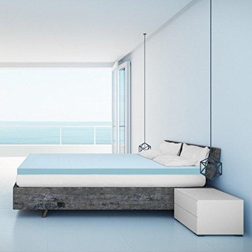 Best Price Mattress Short Queen Mattress Topper - 3 Inch Gel Memory Foam Bed Topper with Cooling Mattress Pad, Short Queen Size by Best Price Mattress