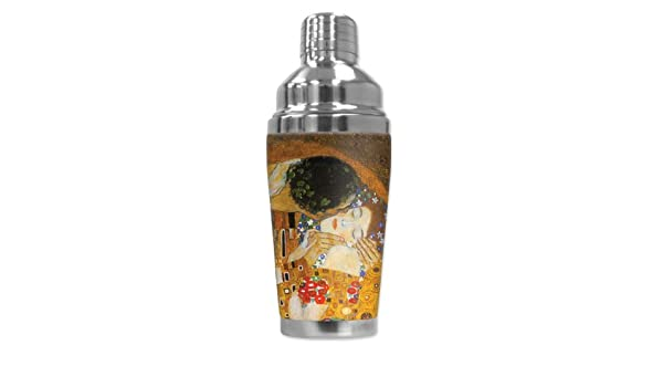 Klimt Mugzie brand 16-Ounce Cocktail Shaker with Insulated Wetsuit Cover The Kiss