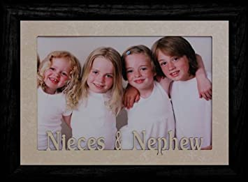 5x7 jumbo nieces nephew landscape frame for favorite auntuncle cream marble