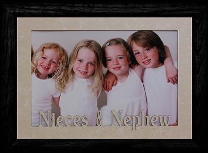 Amazon.com - 5x7 JUMBO ~ NIECES & NEPHEW Landscape Frame ~ Cream ...