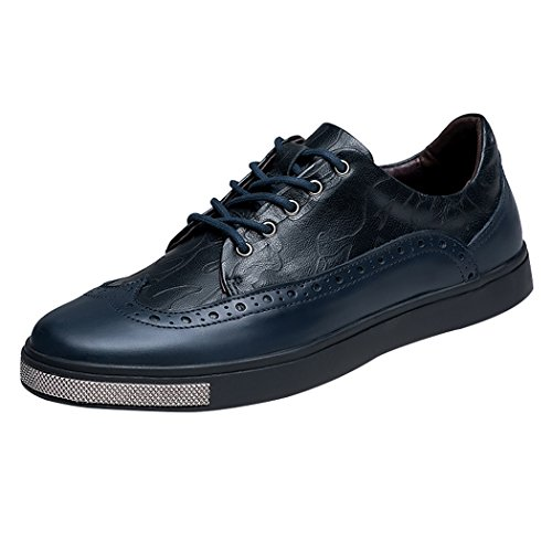 LANSI(レンシー) メンズ レザー スポーツ皮靴スニーカー アウトドア 上質  柔らか ファッション 便利着脱 軽量快適 男性用 四季  皮靴 スケートシューズ