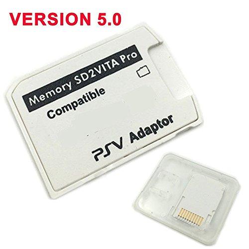 Leoie V5.0 SD2VITA PSVSD Pro Adapter for PS Vita Henkaku 3.60 Micro SD Memory Card