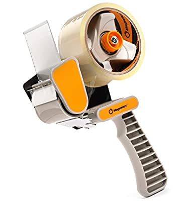 """Tapexpert Packing Tape Gun with 1 Free Roll of Packaging Tape, Easy To Tape Boxes, Seal Cartons, Easy Loading, Holds 60 yd/55m Roll of 2"""" Tape, Best Tape Dispenser for Shipping, Packaging and Moving"""