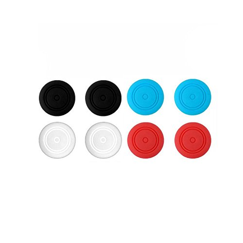 (Replacement TPU Silicone Analog Controller Joystick Thumb Stick Grip Cap Cover for Nintendo Switch NS Joy-Con Colorful)