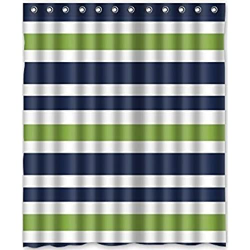 black and white striped shower curtain. Custom Black and White Striped Waterproof Bathroom Shower Curtain Polyester  Fabric Size 66 X 72 Amazon com
