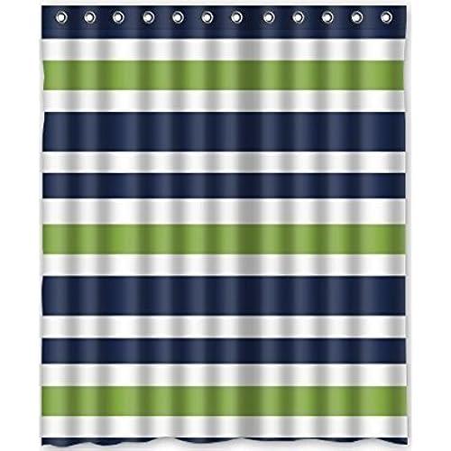 black white striped shower curtain. Custom Black and White Striped Waterproof Bathroom Shower Curtain Polyester  Fabric Size 66 X 72 Amazon com