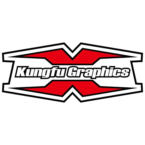 Kungfu Graphics Rockstar Custom Decal Kit for Yamaha YZ125 YZ250 1996 1997 1998 1999 2000 2001, Black White by Kungfu Graphics (Image #5)'