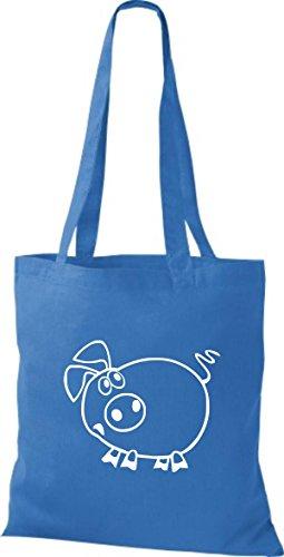 Azulón Azul Bolso Mujer Para Algodón De Tela Shirtstown TOqpHz