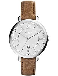 Women's ES3708 Jacqueline Three Hand Leather Watch - Brown