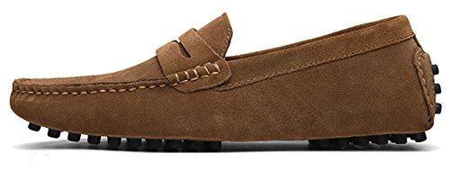 On Driving Go Moccasins Leather Slip Men's Drivers Flats Shoes Suede Dress Penny Casual Boat Loafers Khaki Tour Xqw7nqxUg