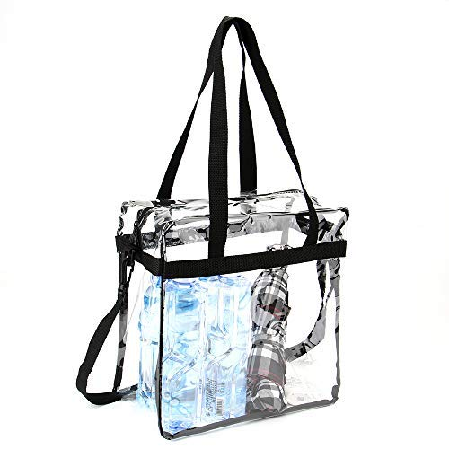 Jomparo 12''X12''X6'' Clear Tote Bag Stadium Approved Perfect for NCAA NFL PGA Work Sports Games by Jomparo (Image #5)