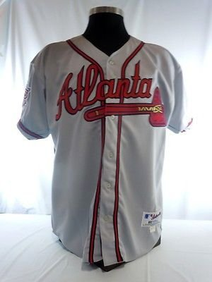 a25b5e2e3 Image Unavailable. Image not available for. Color  Atlanta Braves Vintage  Authentic Russell Road Jersey ...