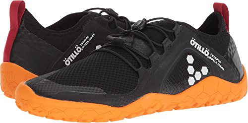 Black Firm Ground (Vivobarefoot Women's Primus Swimrun FG Specialist Firm Ground Trail Running Shoe, Black/Orange, 37 D EU (7 US))