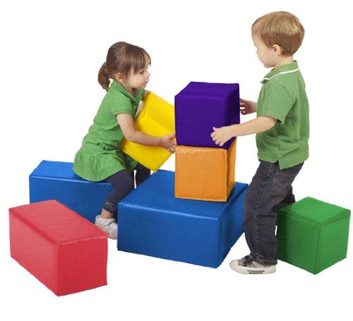 ECR4Kids Softzone Foam Big Blocks, Primary (7-Piece Set)