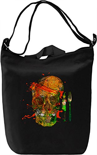Skull Breakfast Borsa Giornaliera Canvas Canvas Day Bag| 100% Premium Cotton Canvas| DTG Printing|