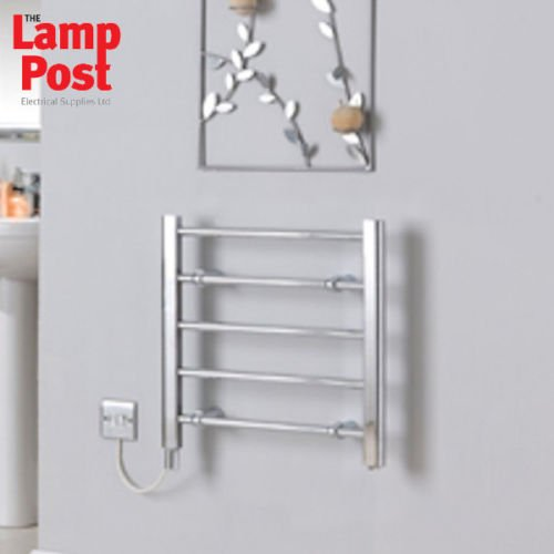 Creda CLR5C 60W Chrome Electric Ladder Towel Rail