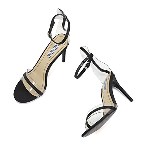 Shoes Enerhu Heel Band Women Dress Heeled Ankle Summer Sandals Stilleto Black High Single Strap Toe Open AwqBArx6