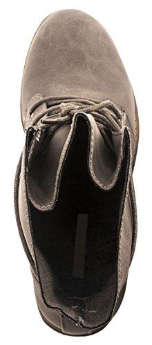 Elara Damen Stiefelette | Biker Boots | Trendy Lederoptik Grau 4