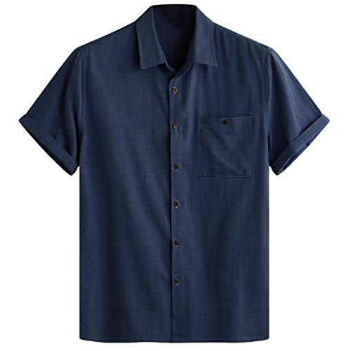 Minnesota Vikings Khaki - VEZAD Mens Hawaiian Beach Printed Turn Down Collar Short Sleeve Loose Shirts