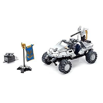 Mega Construx Halo CTF Arctic Warthog Building Set: Toys & Games
