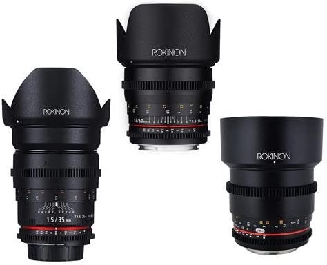 Rokinon Cine Ds Hochformat Objektiv Bundle 35 Mm T1 5 Kamera