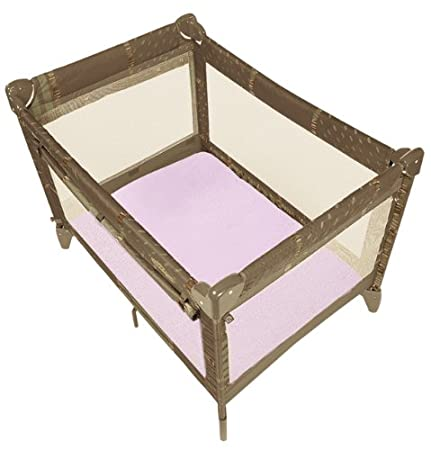 Kushies SO931-05 Certified Organic Play Pen Fitted Sheet, Pink