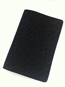 """ELEPHANT-STYLE BLACK Leather Golf Scorecard Holder Golf Yardage Book Cover PGA LPGA (Side-fold) by """"Anonymou$"""" brand name"""