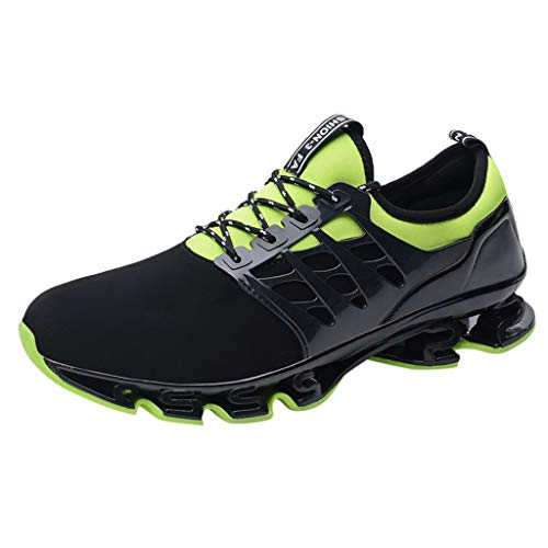 - Mens Sneakers Lightweight Breathable Mesh Street Sport Gym Running Walking Shoes Fashion Summer Spring Travel Shoes Green