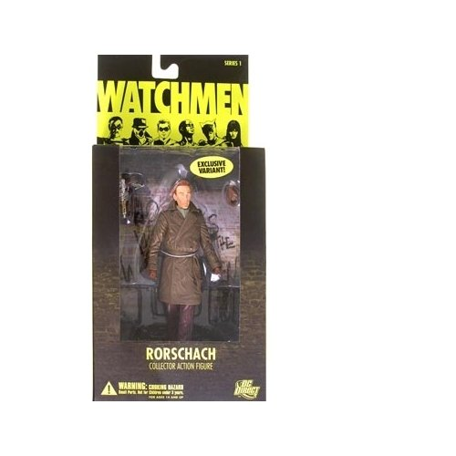 Watchmen Rorschach (Unmasked Variant) Action Figure ()