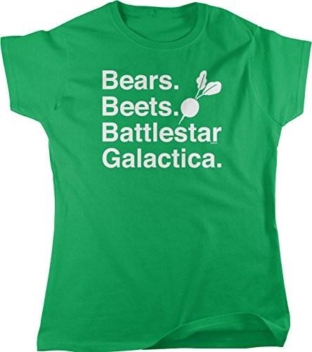 NOFO Clothing Co Bears Beets Battlestar Galactica Women's T-Shirt, M Kelly (Bear Womens Cut T-shirt)