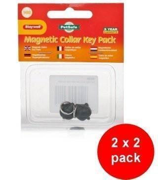Staywell Cat Collar - Staywell 980 Collar Magnetic Key 2 x 2 pack (4 spare keys) compatible with Staywell Magnetic Cat Flaps (400 & 900 Series)