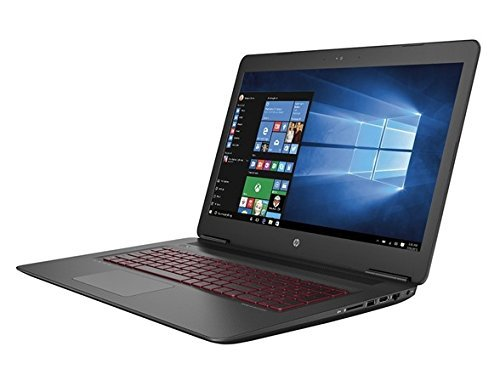 HP Omen 17-W253DX Gaming Notebook, INTEL:I7-7700HQ/CI7, 2.8 GHz, 1TB+128GB M.2 SSD, NVIDIA-GEFORCEGTX1050TI/4GB, Windows 10 Home 64 Bit, Black, 17