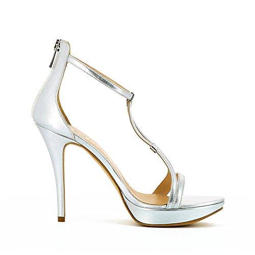 Evita Shoes Valeria - Sandalias de vestir de Piel para mujer plata
