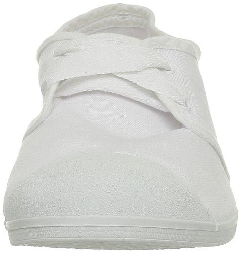 tela T de Blanco mujer para Freeman White Porter Bailarinas Blanc 7ZI7qa