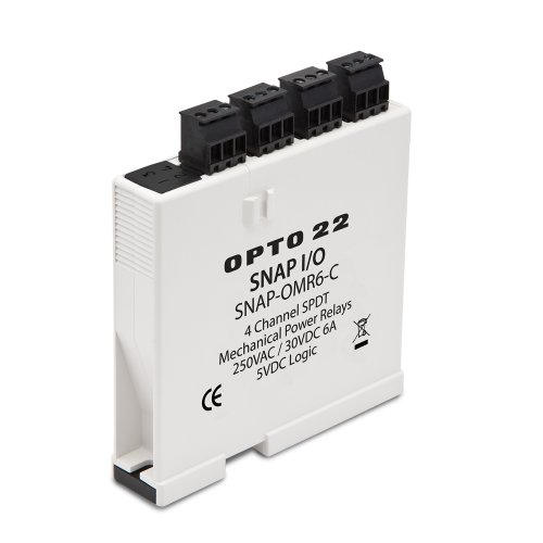 Opto 22 SNAP-OMR6-C SNAP Isolated 4-Channel Mechanical Power Relay Output Module, Form C, 0-250 VAC/0-30 VDC
