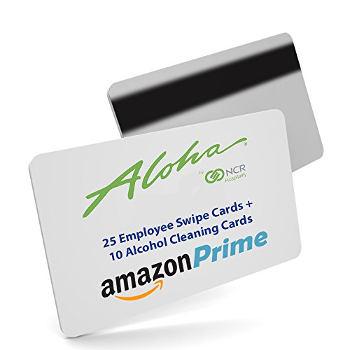 25 Pack Aloha Pos Server Swipe Magnetic Cards 10 Alcohol