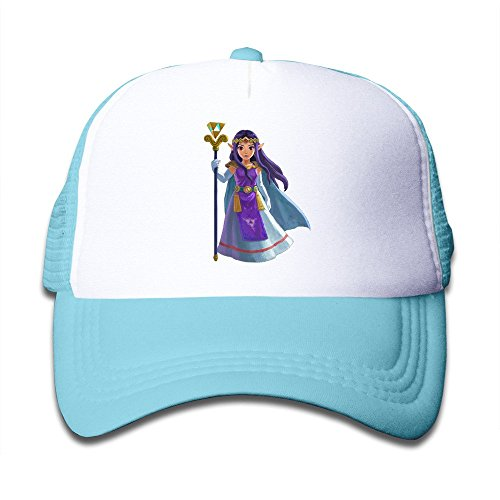 Hot Topic Princess Hilda Legend Of Zelda Kids Mesh Cap Hat Boys Girls Adjustable One Size SkyBlue By JAC8I (Hot Topic Guitar)