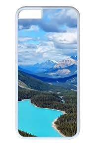 Canada Blue Lake Custom iPhone 6 Case Cover Polycarbonate White
