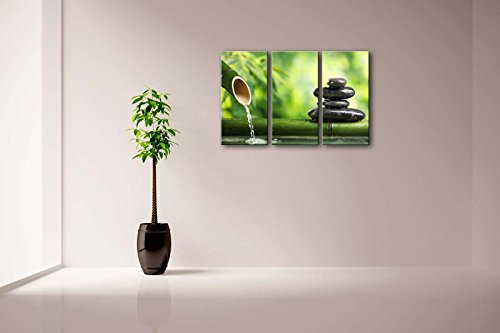 3-Panel-Wall-Art-Green-Spa-Still-Life-With-Bamboo-Fountain-And-Zen-Stone-Painting-Pictures-Print-On-Canvas-Botanical-The-Picture-For-Home-Modern-Decoration-piece-Stretched-By-Wooden-FrameReady-To-Hang