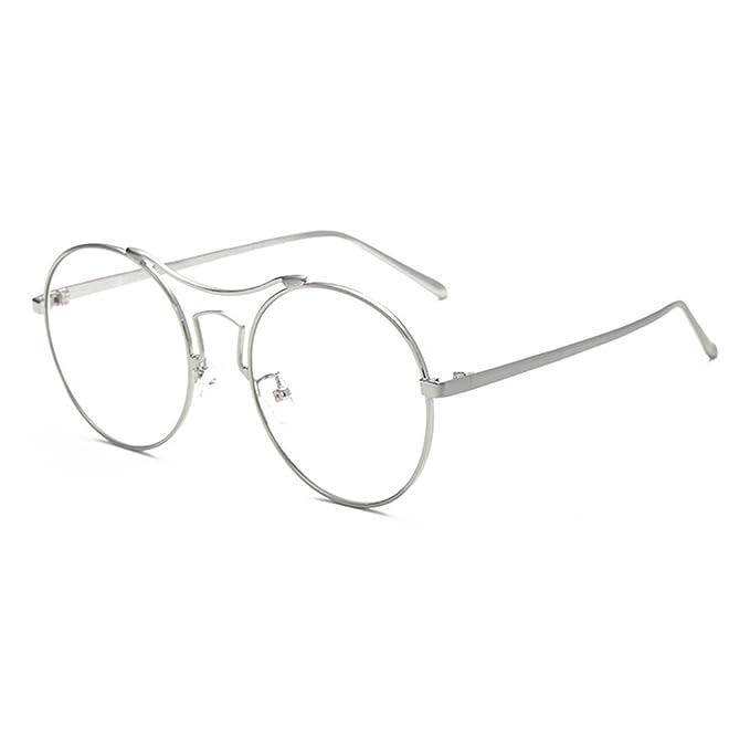 Occhiali rotondi con cornice in metallo, occhiali da vista antiabbaglianti per occhiali da vista uomo - Mxssi