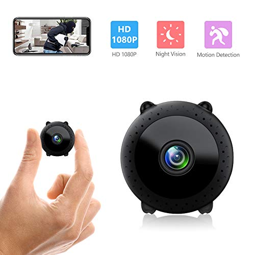 Wireless Mini Security Camera WiFi Spy Cameras Hidden Camera for Home Security Covert Nanny Cam Motion Detection Night Vision View via Phone app