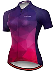 JPOJPO Women's Cycling Jersey Bike Shirt Tops Summer Short Sleeve Breathable MTB Road Ladies Bicycle Clothing Apparel