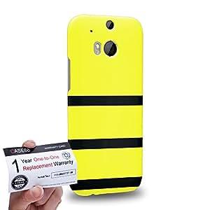 Case88 [HTC One M8] 3D impresa Carcasa/Funda dura para & Tarjeta de garantía - Art Design Yellow Bumblebee