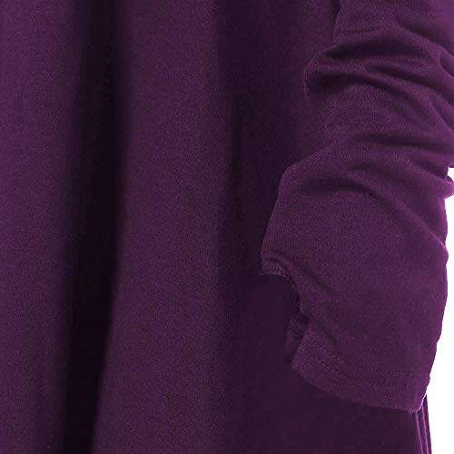 Girocollo Ihengh Casual Semplice Primavera Manica Cotone Per Donna Estate Shirt Moda Fashion Porpora Cappuccio Lunga Ragazza Camicetta Felpa San Queen Grande Con Valentino TlKJF1c