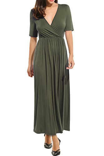 Jersey Deep V-Neck Dress - 9