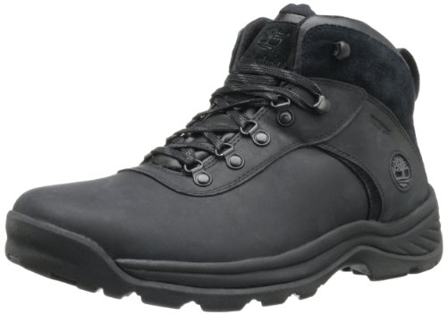 Timberland Men's Flume Waterproof Boot,Black,9.5 M US