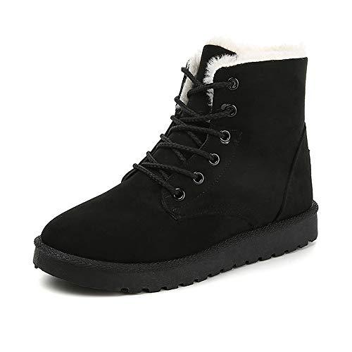Scarpe Stivali in Cotone Casual Neve Martin Scarpe Moda Donna Antiscivolo Calde da da Neve Nero LIEBE721 Peluche da Ad0qwAH